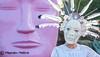 We All Wear Masks (Maureen Medina) Tags: maureenmedina artizenimages dayofthedead diadelosmuertos mask costume feather headdress art installation pink white portrait