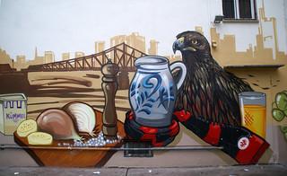 Frankfurt, Graffito bei der Kleinmarkthalle