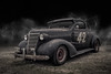 Survivor (DL_) Tags: vintage chevy chevrolet ratrod black hotrod automotive transportation olympusomdem5mkii