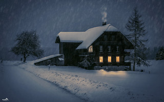 Romantic Winter Evening