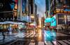 New York Sundowner (Lost Light) Tags: newyork manhattan timessquare sunset reflections neon night life city cityscape