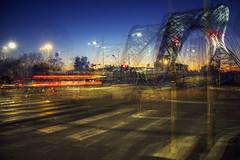 Ostiense Night (Alessio Trerotoli) Tags: roma rome ostiense garbatella bridge sunset street urban city life sky citylights cityscape art fineart arte sun night photo photography streetphotography