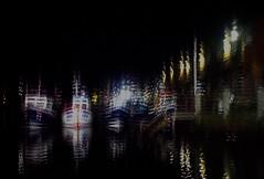 Fishing Boats (Bill Eiffert) Tags: harbour boats fishing night technique dark stepped