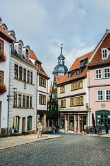 windows, roofs, towers and people's ways through the city (lina zelonka) Tags: gotha thüringen germany linazelonka europe deutschland thuringia thueringen thuringen vertical architecture town city nikond7100 18105mm houses architektur