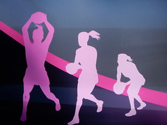Female Sport (mikecogh) Tags: grange females outlines sport ball ponytail balls basketball