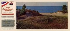 Indiana Dunes State Park, 1959 - Chesterton, Indiana (Shook Photos) Tags: postcard postcards americanoilcompany amoco dune dunes indianadunes indianadunesstatepark sand shore shoreline beach lakemichigan chestertonindiana chesterton indiana portercounty