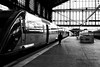The stationmaster (pascalcolin1) Tags: paris13 austerlitz homme man gare station chefdegare stationmaster train lumière light photoderue streetview urbanarte noiretblanc blackandwhite photopascalcolin canon50mm 50mm canon