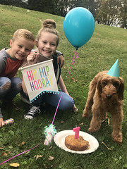 Gabby's sweet Penelope with her family on her birthday!