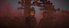 dashing moment of the forest moon (jooka5000) Tags: starwars lego endor forest moon droids dashing moment toys trees troopers atmosphere autumn