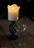 candle light and rose (sarahdunlop1) Tags: candle wine glass flame empty table canon 600d 18250 glow