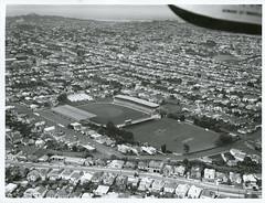 Aerial view of Eden Park, Auckland