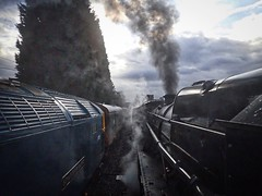3) Great Central Railway Loughborough Leicestershire 26th November 2017 (loose_grip_99) Tags: great central railway railroad rail train leicestershire loughborough eastmidlands england uk steam engine locomotive lms stanier 8f 280 48624 santa preservation transportation gassteam uksteam trains railways november 2017 class 47 brush 1705