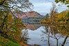 Scene through the trees (Peter Leigh50) Tags: landscape lake lakes district derwent water reflection reflections hill mountains trees autumn autume fuji fujifilm xt10