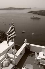 Thira, Santorin (alexanderferdinand) Tags: griechenland santorin architektur landschaft greece blackandwhite schwarzweiss
