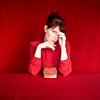 (elsvo) Tags: red portrait canon colour colorblast color selfportrait