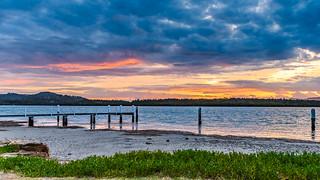 Overcast Dawn Waterscape