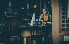Smile (Guowei_Liang) Tags: sitting beautiful streetcandid nikon happy bar laughing laugh pretty girl street sandiego