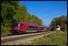 ÖBB Railjet, Aßling 10-05-2017 (Henk Zwoferink) Tags: asling bayern duitsland de henk zwoferink 10052017 öbb ic ec siemens railjet