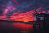 Arriluze (Mimadeo) Tags: getxo sunset sea basque country basquecountry biscay euskadi lighthouse sky arriluze spain paisvasco red clouds vizcaya bizkaia dramatic arriluce