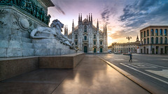 Early morning image of Duomo in Milan Italy. (Bart Ros) Tags: ifttt 500px morning travel clouds italy old urban building statue sony cloud milan capital longexposure sonyalpha urbanexploration europe duomo oldeurope noperson sonya7r2
