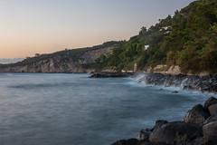 Sorrento coast at dusk... (ola_er) Tags: sorrento dusk sunset long exposure italy holiday travel rock sky ocean sea bay shore water