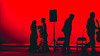 Curtain call (EspressoTime) Tags: red flamenco performance silhouette canon 50mm