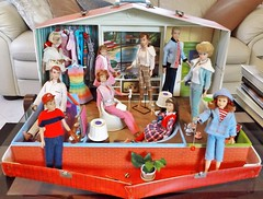 MY CHRISTMAS PRESENT TO MYSELF (ModBarbieLover) Tags: sears doll toy house exclusive skipper barbie ken allan skooter ricky 1965 deluxe furniture knitwear pak pants wardrobe books tv patio