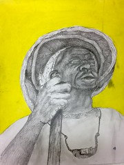 (katepartington) Tags: portraiture graphite yellow oldman portrait sketch