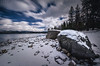 McCall Idaho Winter (Explored) (Russell Eck) Tags: mccall idaho winter nature landscape long exposure neutral density filter polarizer russell eck project odyssey travel lake water snow sky clouds dynamic rock explore explored