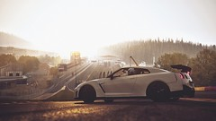 Procrastinating (polyneutron) Tags: nissan gtr white supercar contrast assettocorsa pc automotive hdr filter dof