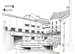 Tonnerre (gerard michel) Tags: france bourgogne tonnerre moulin sketch croquis architecture