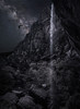 Zion Night - Composite (byron bauer) Tags: byronbauer zion valley nationalpark waterfall cascade sandstone mountain cliff rock owl night milkyway sky canyon utah landscape painterly mountainside moonlight pool water imagestack