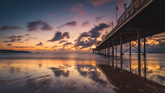 Reflections at Dawn (Explore 23/11/2017) (RTA Photography) Tags: outdoors rtaphotography paigntonpier paignton torbay sand beach sky clouds dawn light reflections fx nikond750 nikkor1835 18mm seascape sunrise devon westcountry explore
