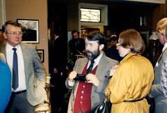 Unidentified gent, Roger Johnson, Jan Arter, Roger Matthews (photo courtesy of Roger Johnson)