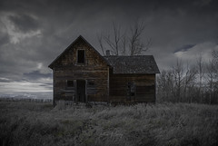 Waiting around to die.  (Explored) (Fistfulofpowder) Tags: abandoned alberta house infrared lifepixel 590nm ir d80