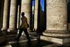 tra le colonne di s. pietro (solo a roma) Tags: sanpietro colonne colonnato camminare canon 350d