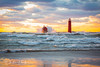 Grand Haven Lighthouse Wave (ChristineDarnell) Tags: grandhavenlighthouse wind water waves sky clouds sunset lakemichigan christinedarnell canon canoneos5dmarkiii canonef70200mmf28lisiiusm