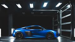 Audi R8 V10+ (Roman Rudnicki) Tags: blue matte audi detailing r8 spoiler car supercar sport warszawa warsaw poland polska nikon light lightpainting garage city