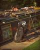 Barge n Bobber.. (Harleynik Rides Again.) Tags: barge canal bike bsa bobber sunlight goldenhour harleynikridesagain