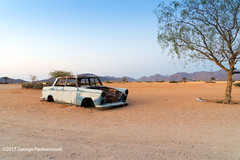 Old cars in Solitaire, Namibia (George Pachantouris) Tags: namibia africa southern travel holiday solitaire hot air ballon abandoned gas station