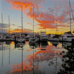 Port Douglas sunset (michael.gittos) Tags: sunset yachts portdouglas water sky clouds australia pacific canon