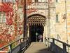 Entrance to Hever Castle, Kent (Linda 2409) Tags: castle entrance drawbridge portcullis portal