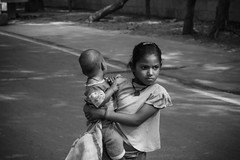 Looking for something (Rishabh_Sharma_In) Tags: colorless urban beautiful natural life monochrome canon young silence sadness thoughts photoshop lightroom words attraction eos stranger expression greyscale reality adobe searching kids people photography street india delhi emotion 1200d