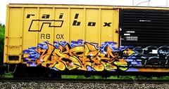 later (timetomakethepasta) Tags: later nsf ksw freight train graffiti art rail box boxcar rbox benching selkirk new york