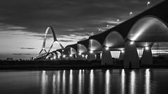 De Oversteek (Mario Visser) Tags: deoversteek waal waalbrug bridge architecture nijmegen gelderland netherlands fujifilm black white
