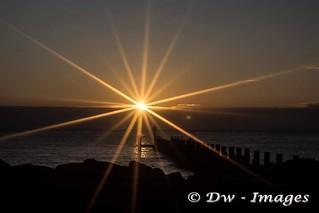 Sunrise over the East Coast lowestoft uk