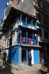 Corner dress shop (posterboy2007) Tags: kathmandu nepal street shop dress store blue corner sony