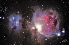 M42 Orión y Running man reprocesada. Des de Àger, Lleida (gerardtartalo) Tags: nebulosa nebula m42 cosmos telescope telescopio space deepspace espacio stars star universo universe astronomy astronomia astrofotografia astrophotography
