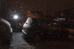 December 13th 2017 - Project 365 (Richard Amor Allan) Tags: snow snowflakes snowing weather car flash night project365