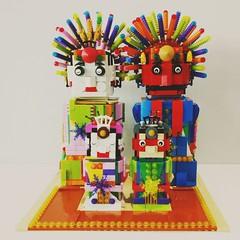 This is my Lego's Ondel-Ondel. Ondel-Ondel is a large puppet figure featured in Betawi (Batavia) folk perfornance of Jakarta,  Indonesia.  Ondel-ondel was the village guard to drive away the bad spirit that haunt the human.  That's way Ondel-Ondel has a c (putiee) Tags: legomoc brickheadz lego
